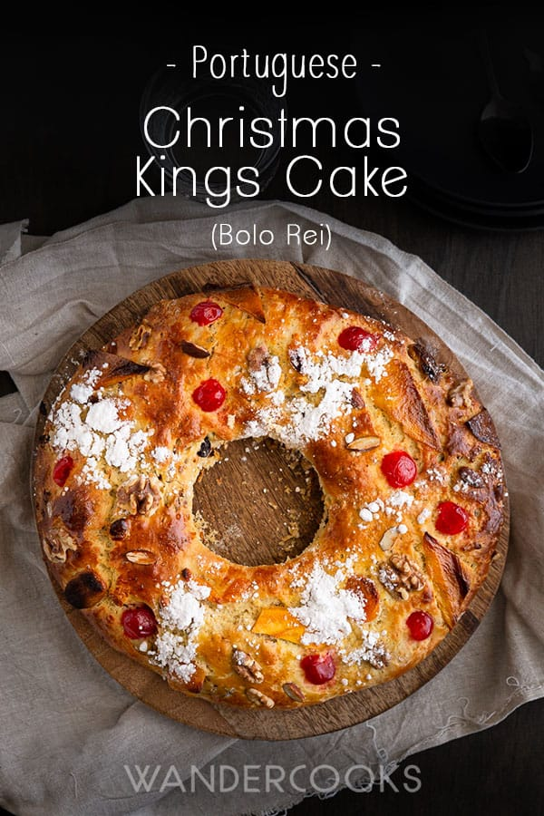 Bolo Rei (Christmas Kings Cake) - Hailing from Portugal, Bolo Rei or Portuguese Kings Cake, is a light and fluffy traditional Christmas cake filled with fruit and nuts. Super easy to bake at home, get ready to make your Kings Cake \