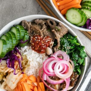 Easy Korean Beef Bibimbap Recipe