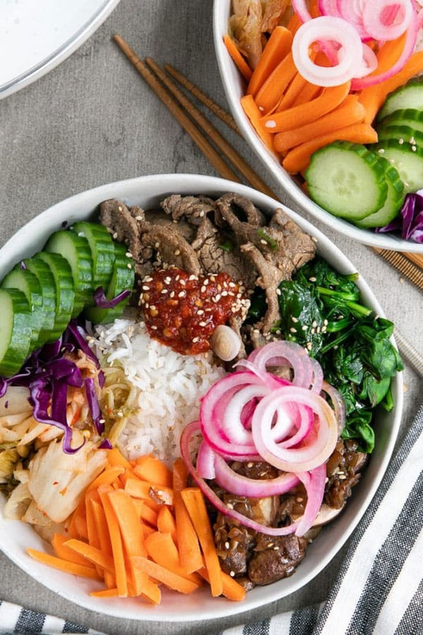 Easy Korean Beef Bibimbap Recipe