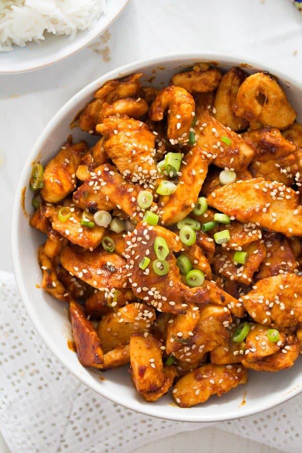 Spicy Korean Chicken in Gochujang Sauce