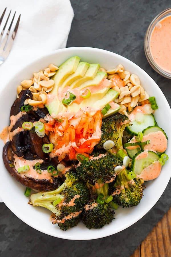 Vegan Korean Mushroom Bulgogi Bowl