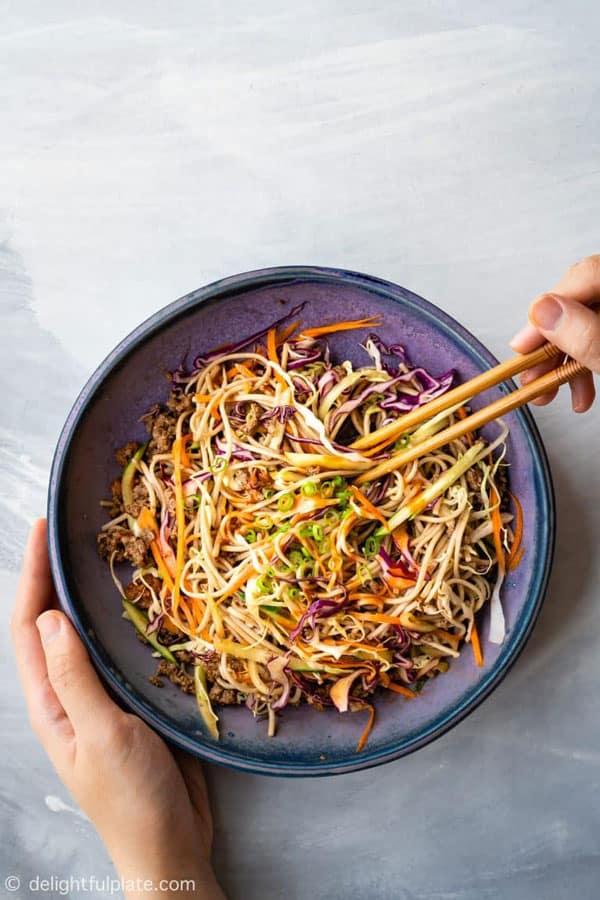 Spicy Beef Soba Noodle Salad