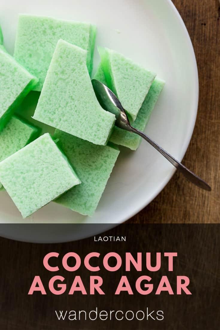 Agar Agar Jelly with Coconut - Laotian Vun