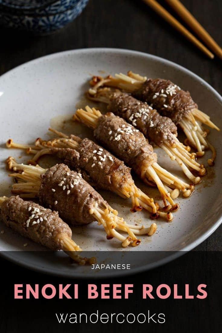 Easy Enoki Beef Rolls - Japanese Appetiser