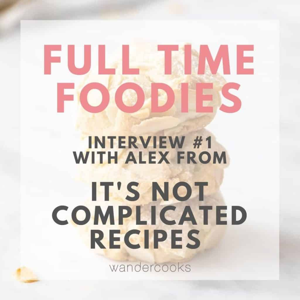 Cookies in background with text overlay.