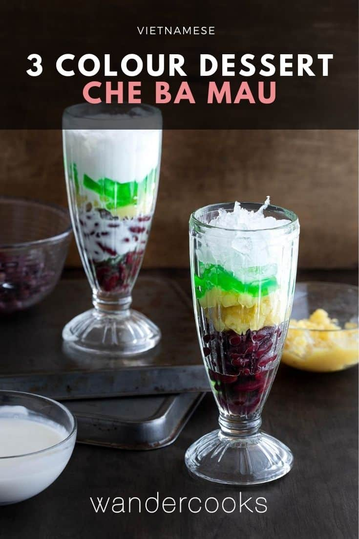 Chè Ba Màu - Vietnamese Three Colour Dessert