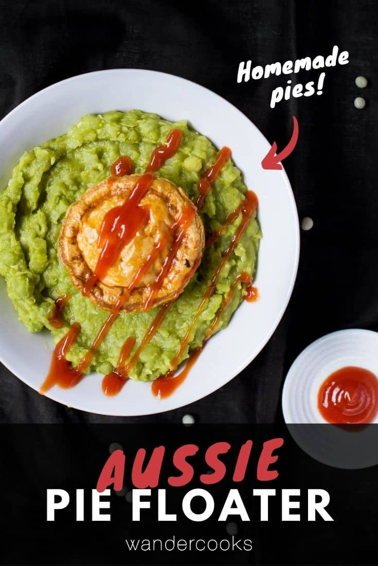 Pie Floater Recipe with Pea Soup