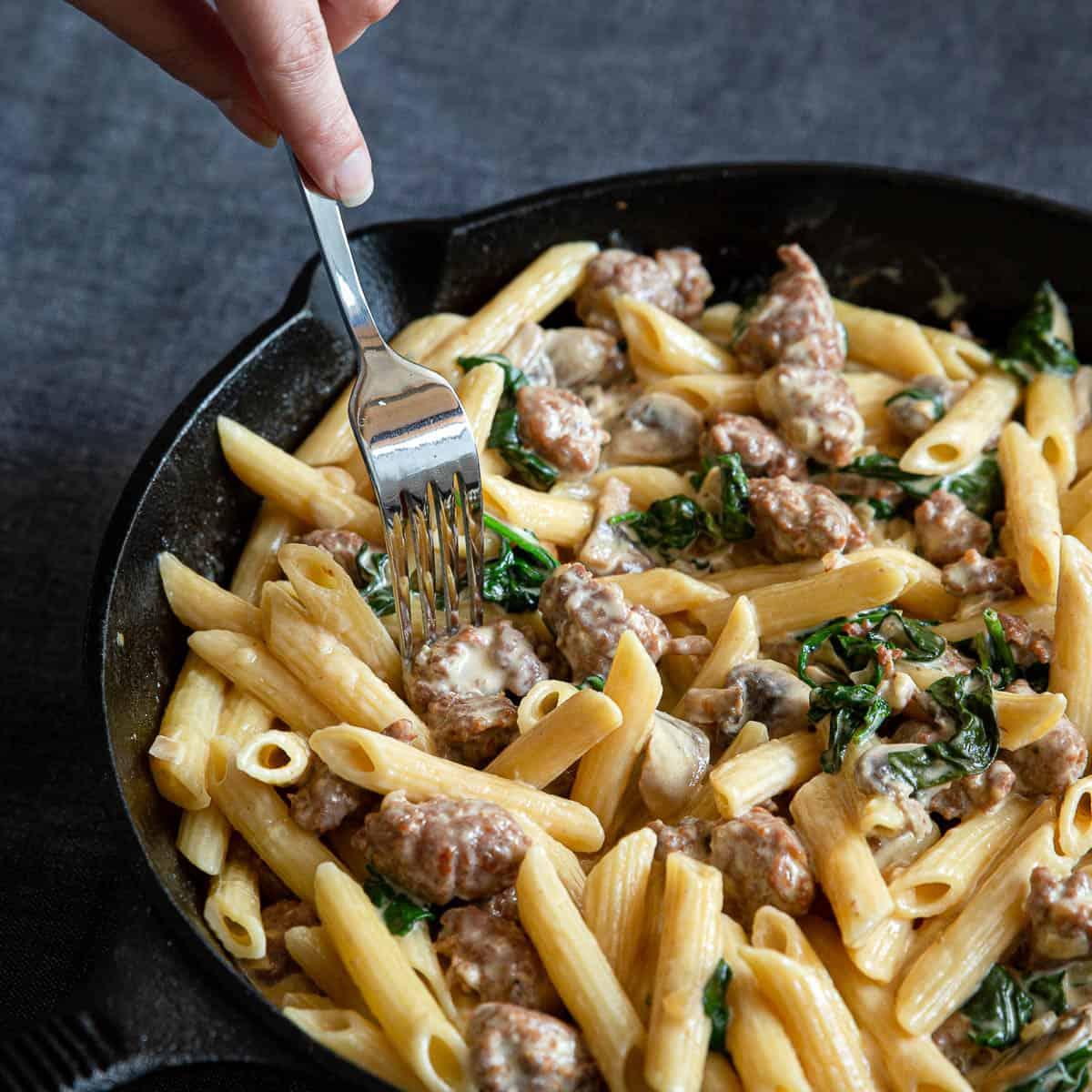 Creamy Sausage Pasta Wandercooks