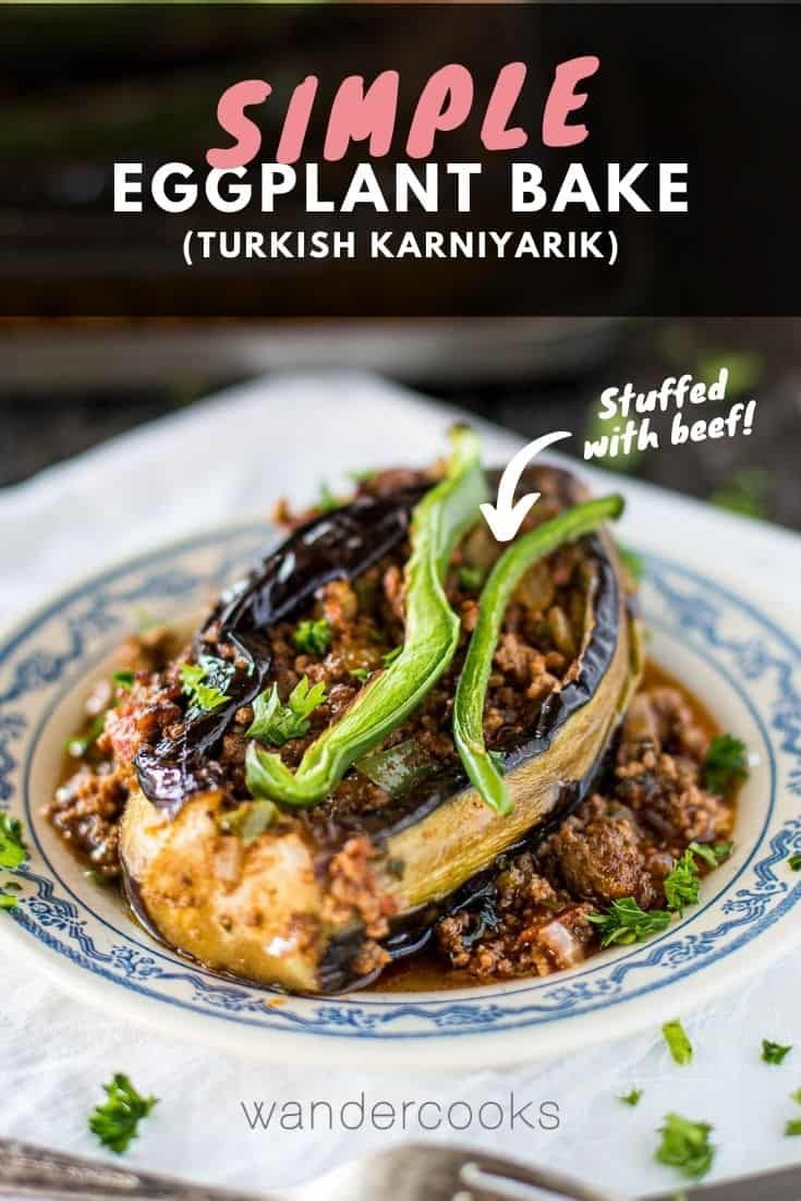 Karniyarik - Turkish Stuffed Eggplants