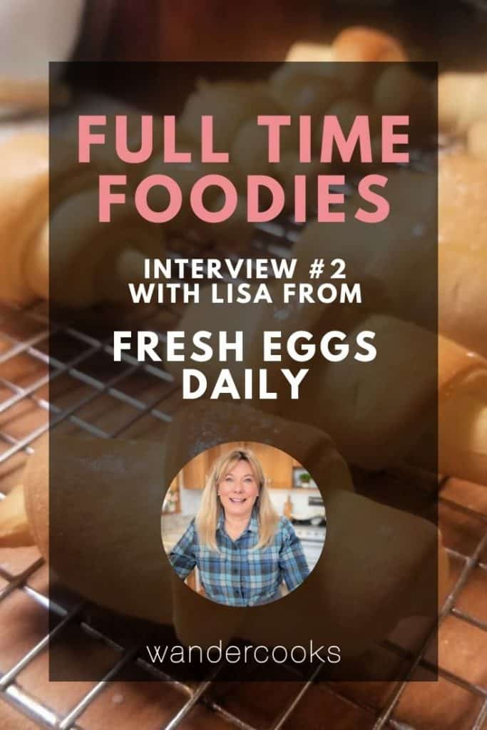 Crescent rolls with text overlay of Full Time Foodies and image of Lisa.