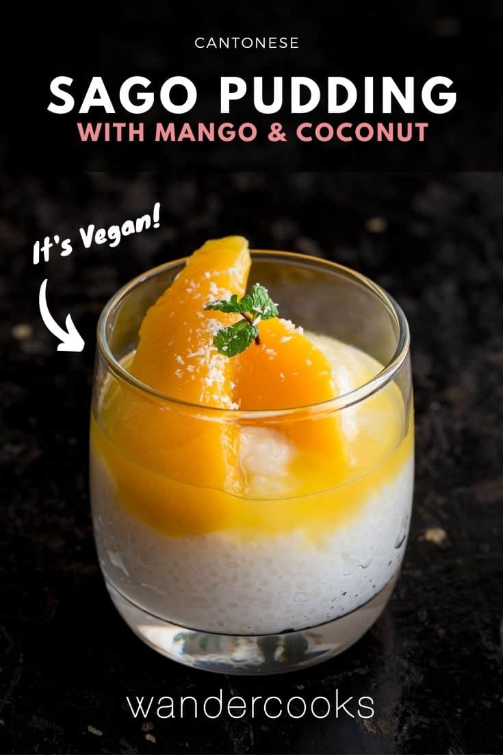 Sago Pudding with Coconut & Mango