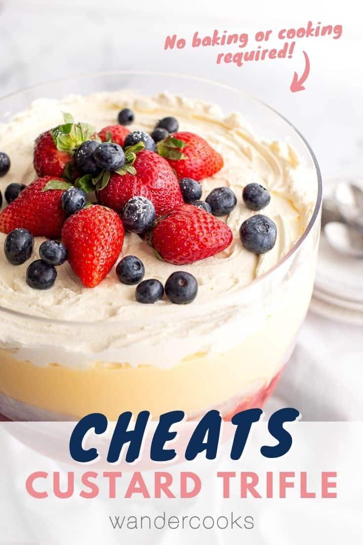 Super Easy Australian Trifle with Custard