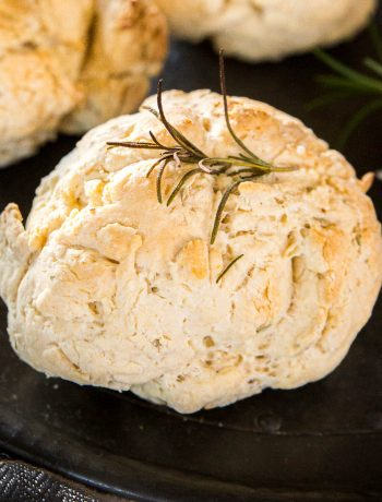 Damper rolls, fresh out the oven and topped with rosemary.
