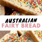 A collage of fairy bread pictures.