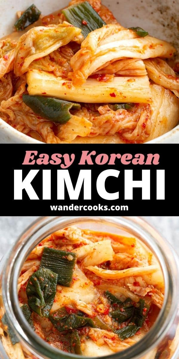 Easy Korean Kimchi - Fermented Spicy Cabbage