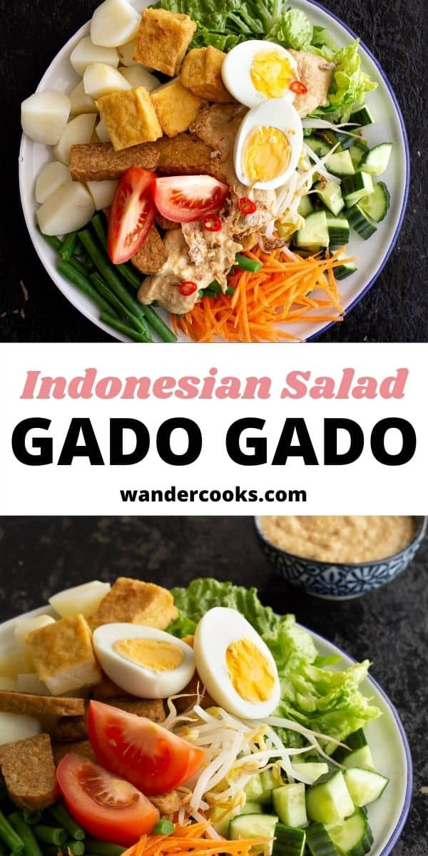 Indonesian Gado Gado Salad with Peanut Sauce