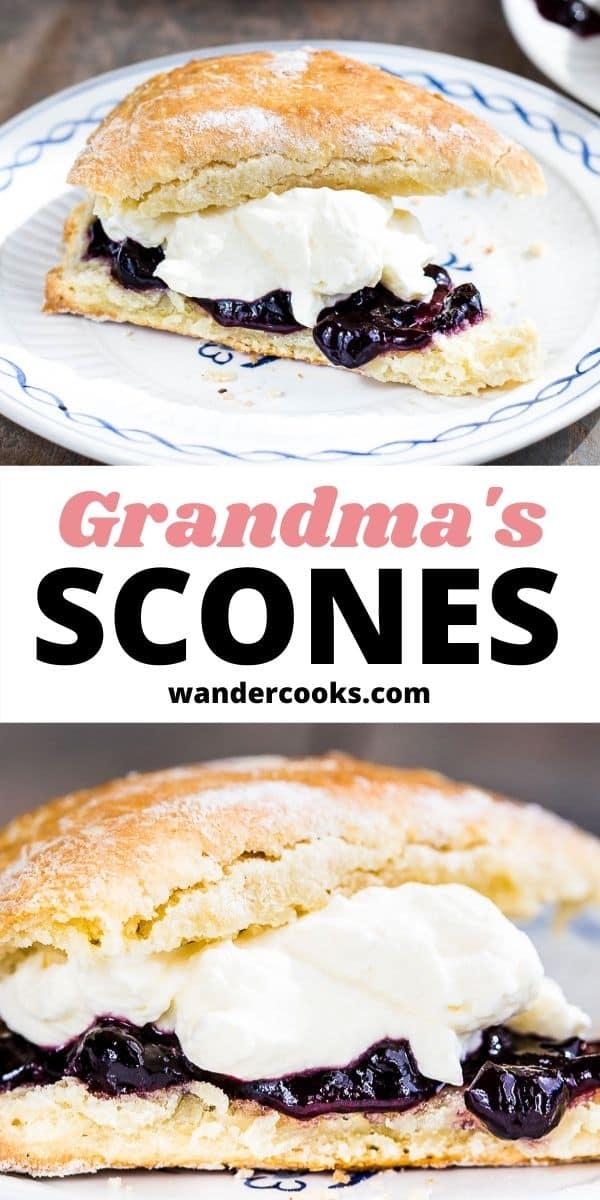 Grandma's Scones - Easy Plain Scone Recipe