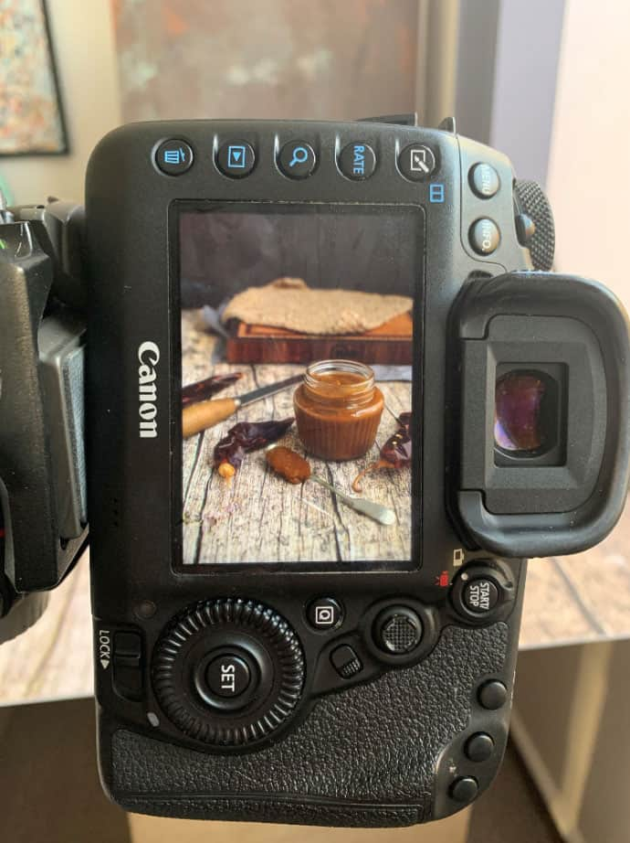 A preview of a food photography setup.