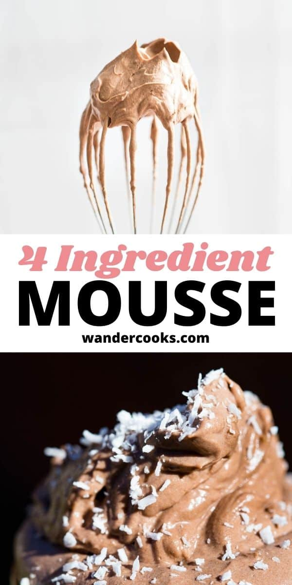 Easy Chocolate Mousse with Cocoa Powder