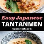 A collage of tantanmen ramen images.