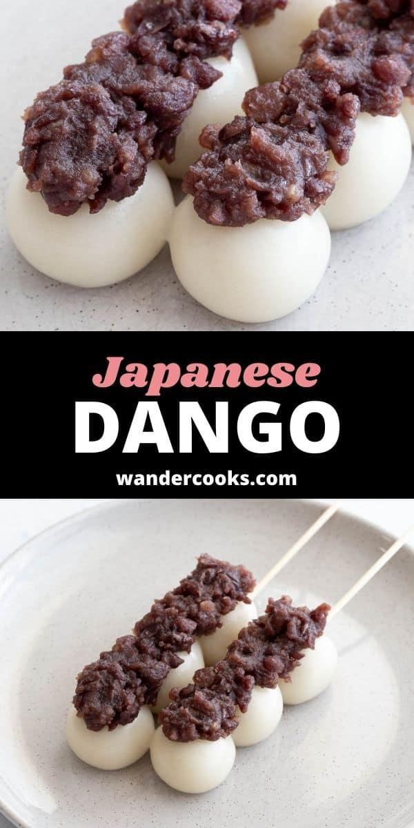 Dango Recipe with Anko (Sweet Red Bean Paste)