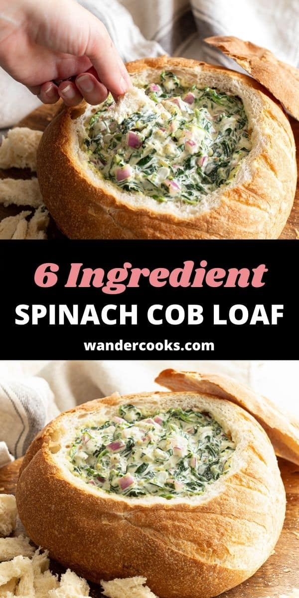 Quick & Creamy Spinach Cob Loaf Dip