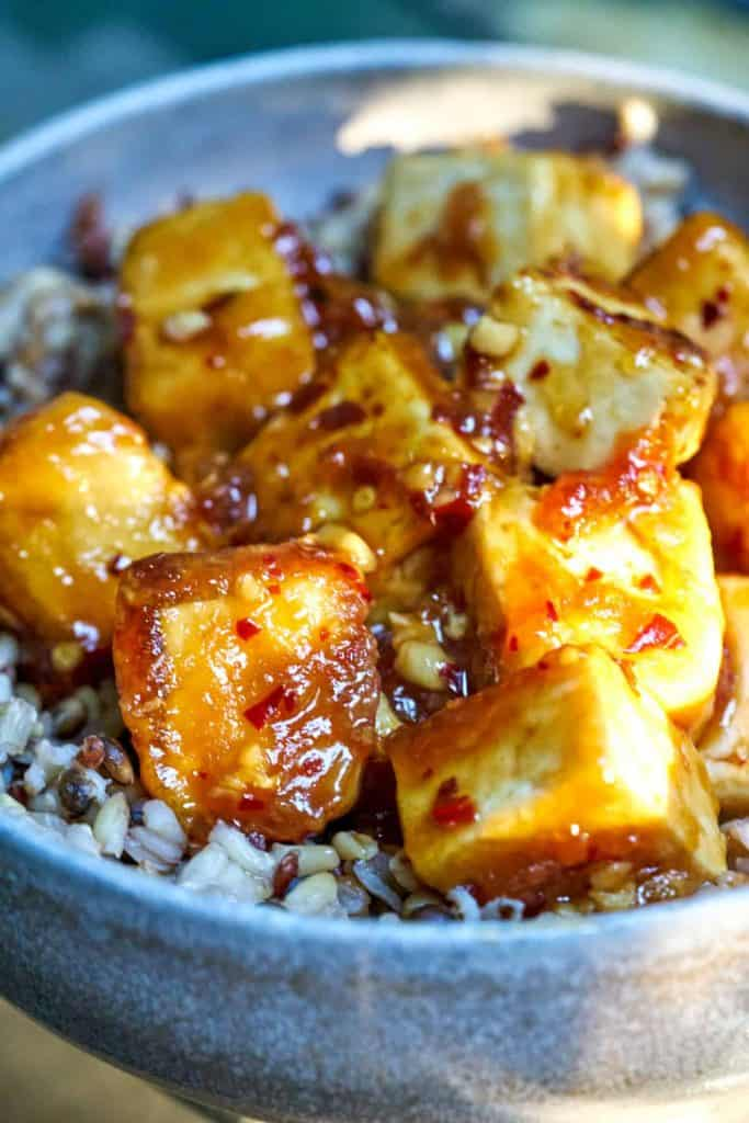 Porportional Plate's Spicy Tofu.