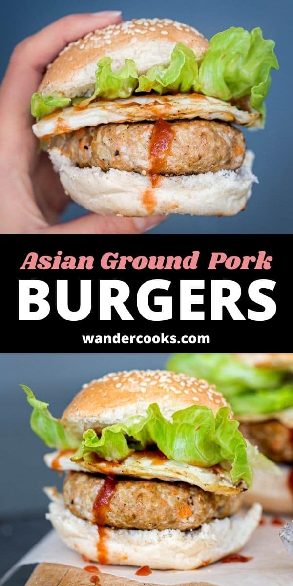 Taiwanese Breakfast Burgers - Asian Ground Pork Burgers