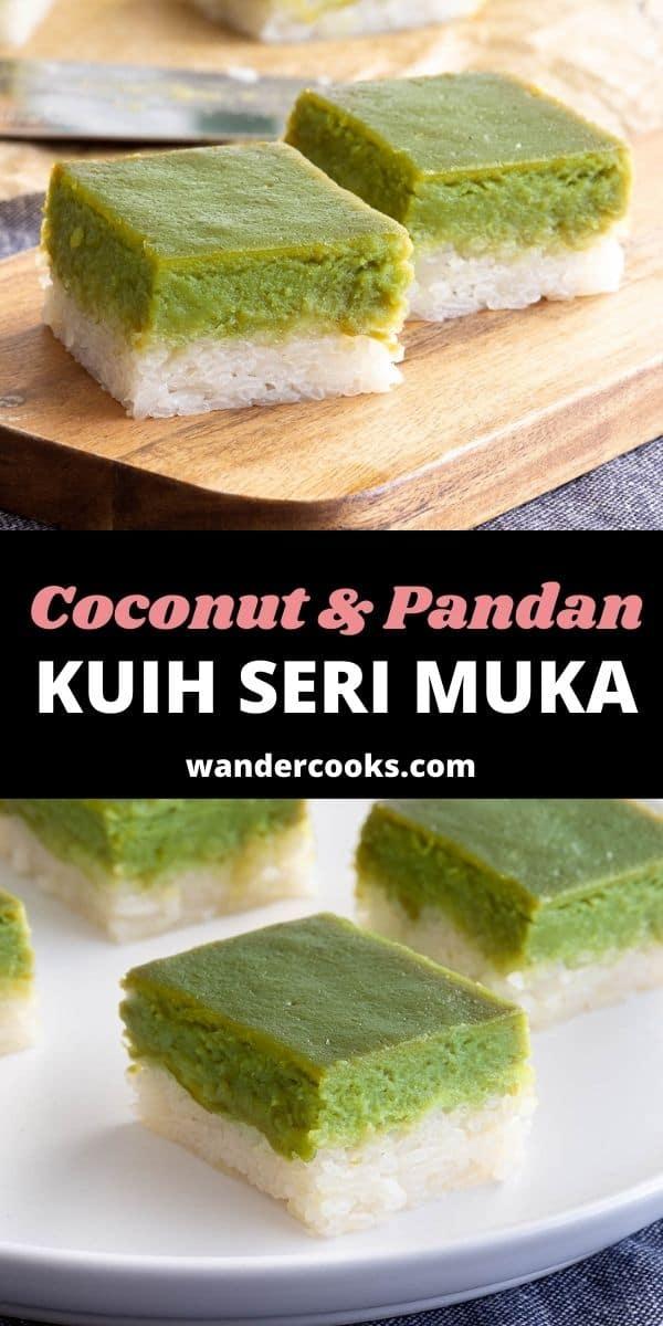 Seri Muka - Coconut Pandan Layer Cake