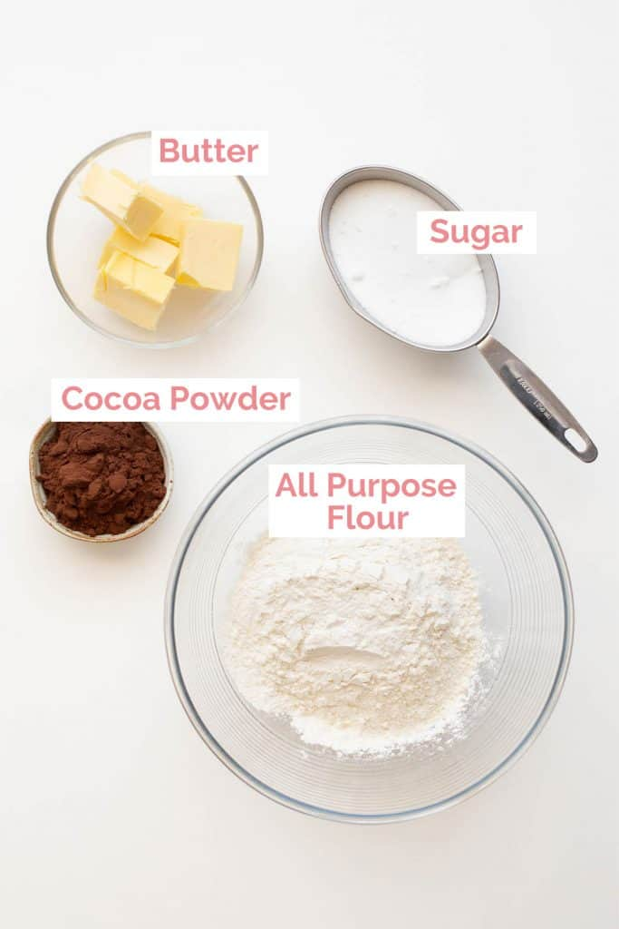 Ingredients laid out to make chocolate concrete.