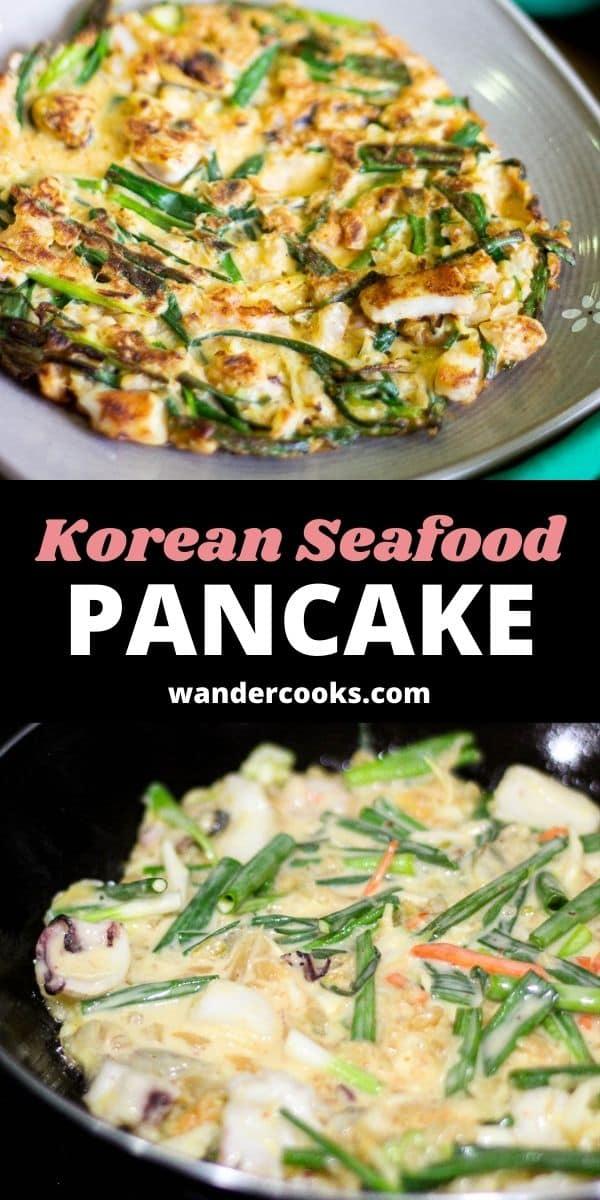 Crispy Korean Seafood Pancake - Haemul Pajeon