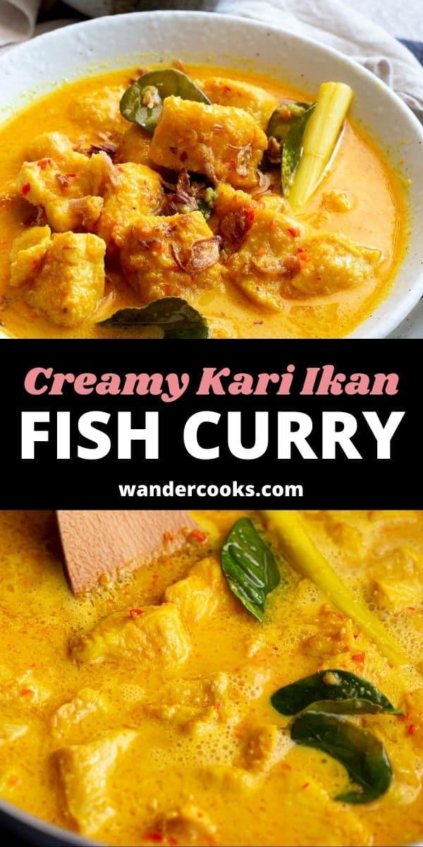 Creamy Coconut Indonesian Fish Curry - Kari Ikan
