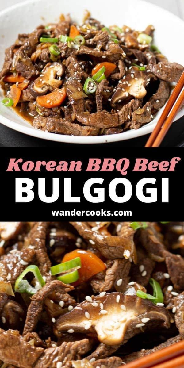 Korean BBQ Beef with Shiitake Mushroom - Bulgogi