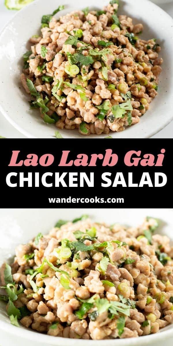 Lao Chicken Salad (Lao Larb Gai)