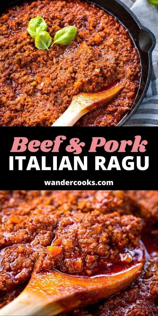 Italian Ragu Recipe with Beef & Pork