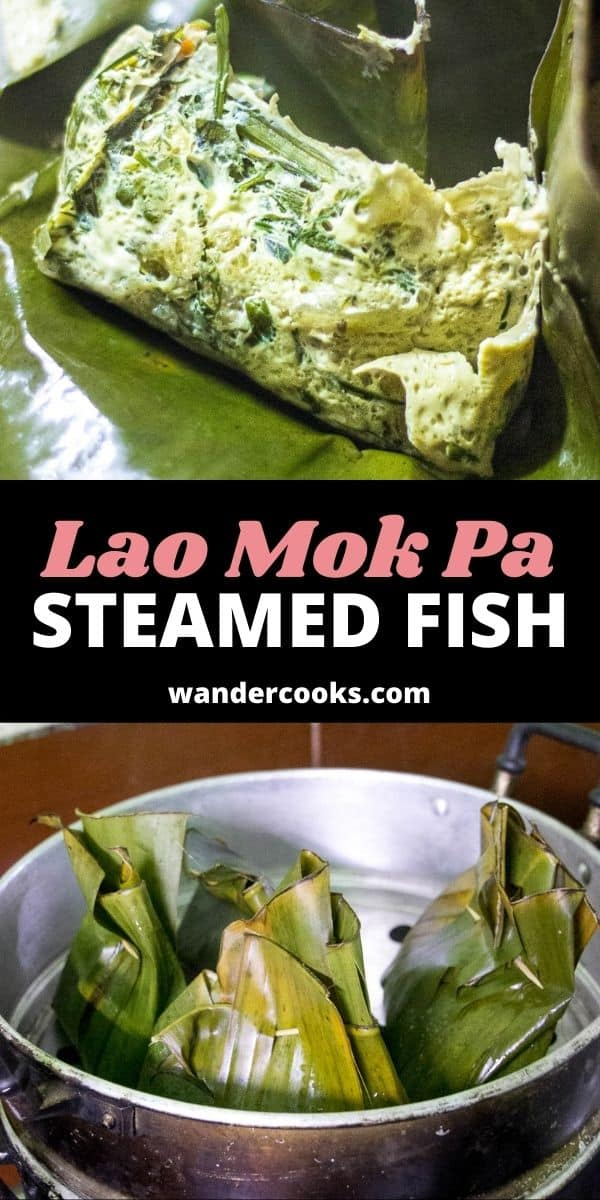 Lao Steamed Fish in Banana Leaves - Mok Pa