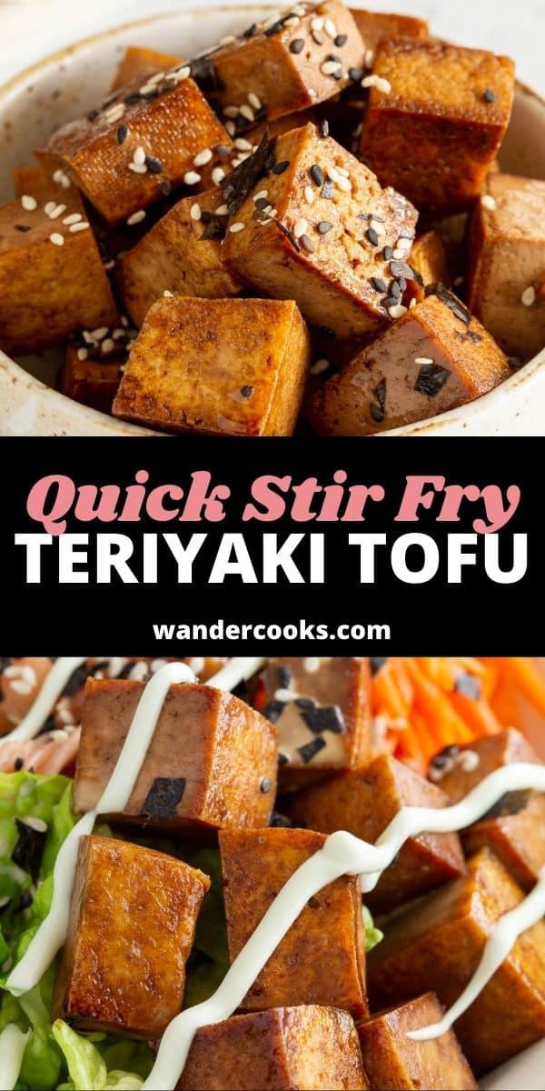 5 Minute Stir Fried Teriyaki Tofu