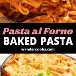 A collage of pasta bake images with text overlay.