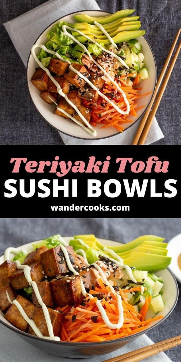 Quick Teriyaki Tofu Sushi Bowls