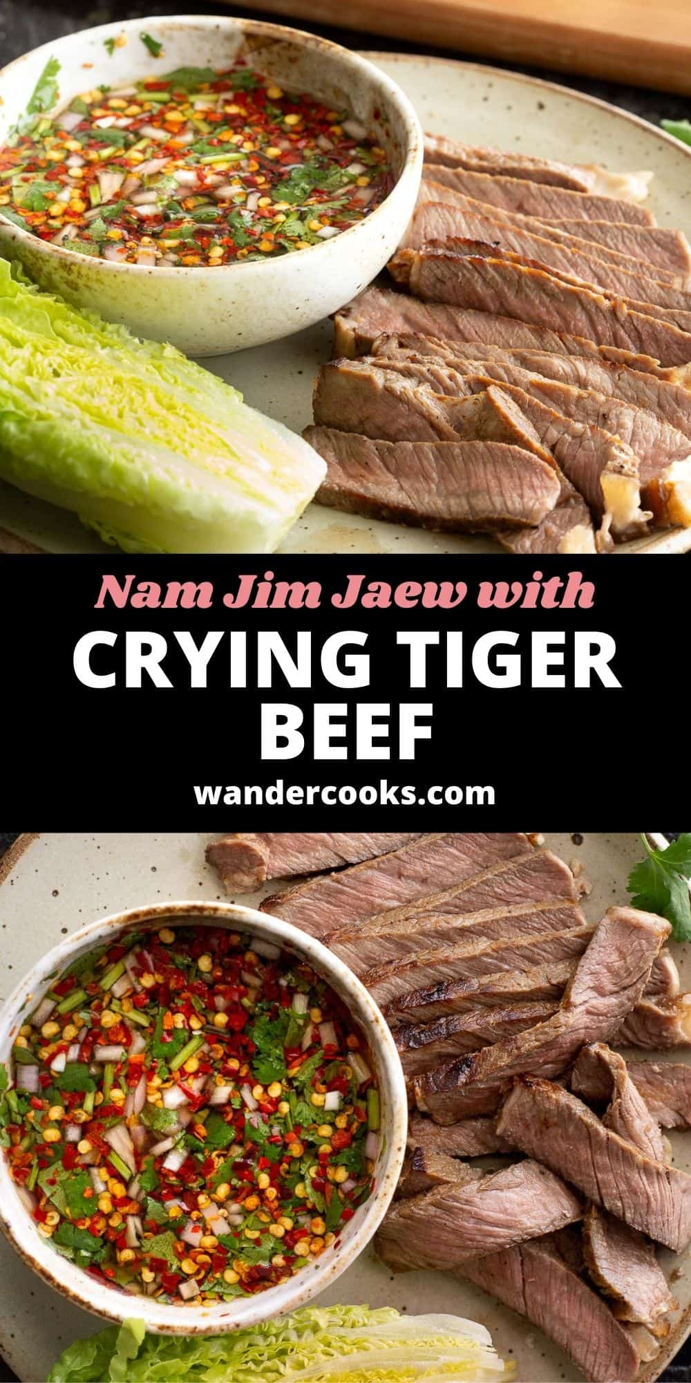 Simple Crying Tiger Steak with Nam Jim Jaew Dipping Sauce
