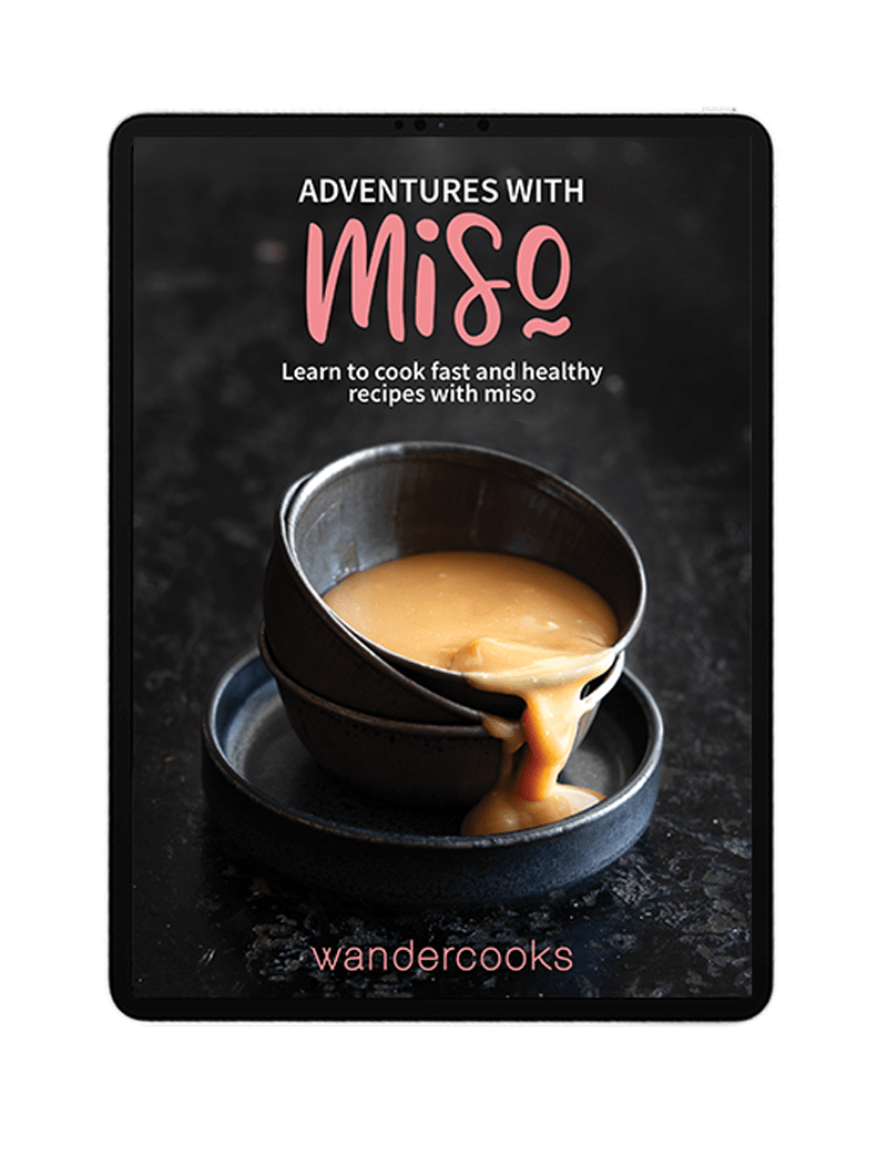 iPad mockup of Adventure with Miso cover.