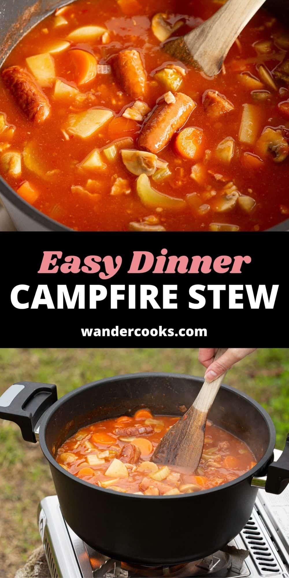 Best Campfire Stew - Sausage and Bean Casserole