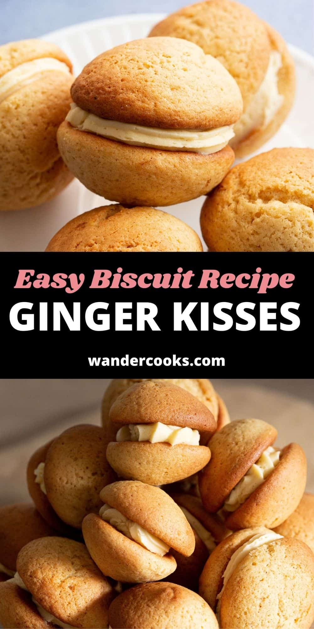 Easy Ginger Kisses Biscuits