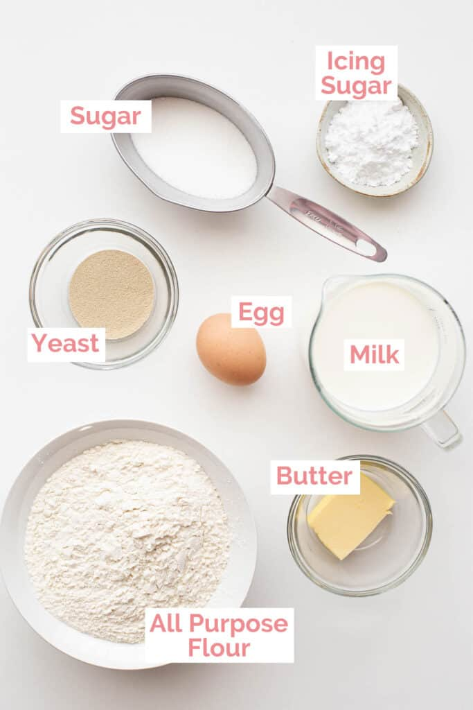 Ingredients laid out to make poffertjes.
