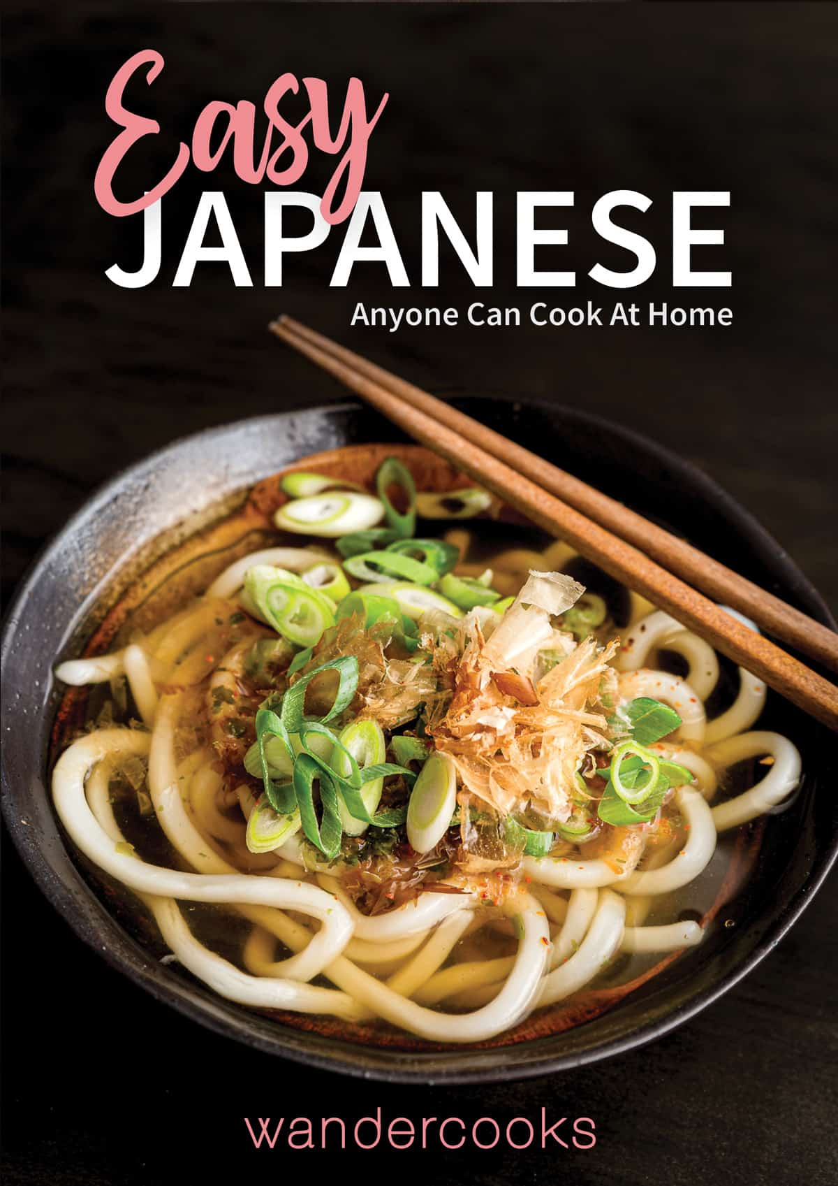 Ebook cover showing a bowl of noodles and text overlay.