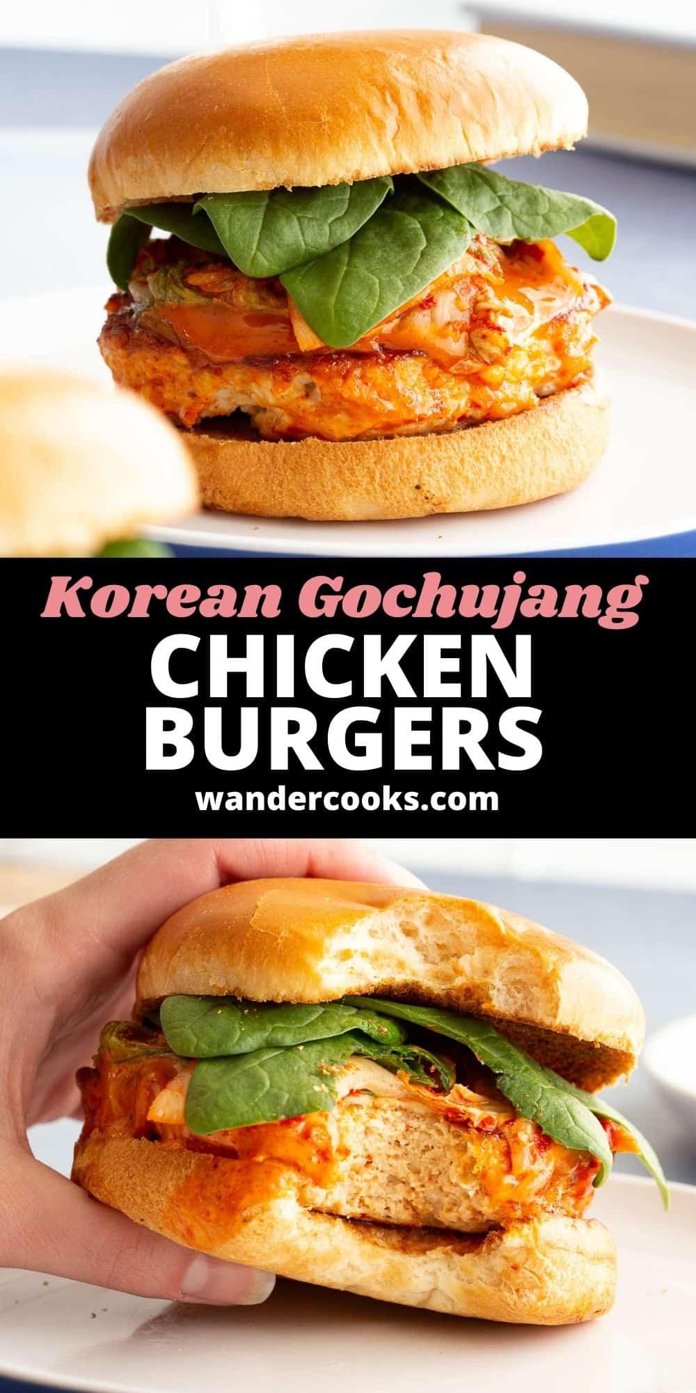 Quick Korean Gochujang Chicken Burgers