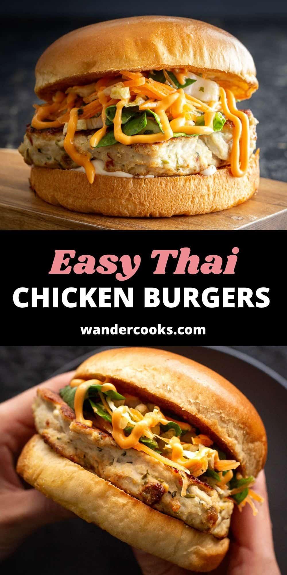 Easy Thai Chicken Burgers