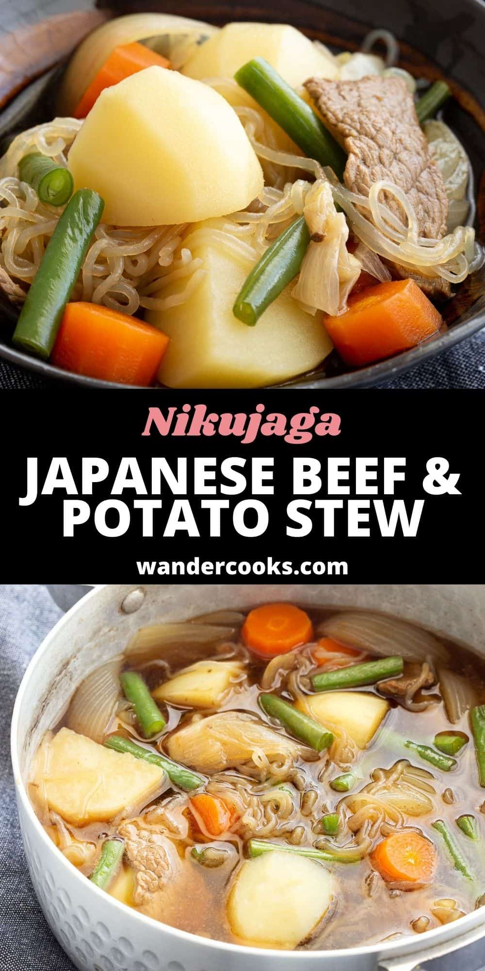 One Pot Nikujaga - Japanese Beef and Potato Stew