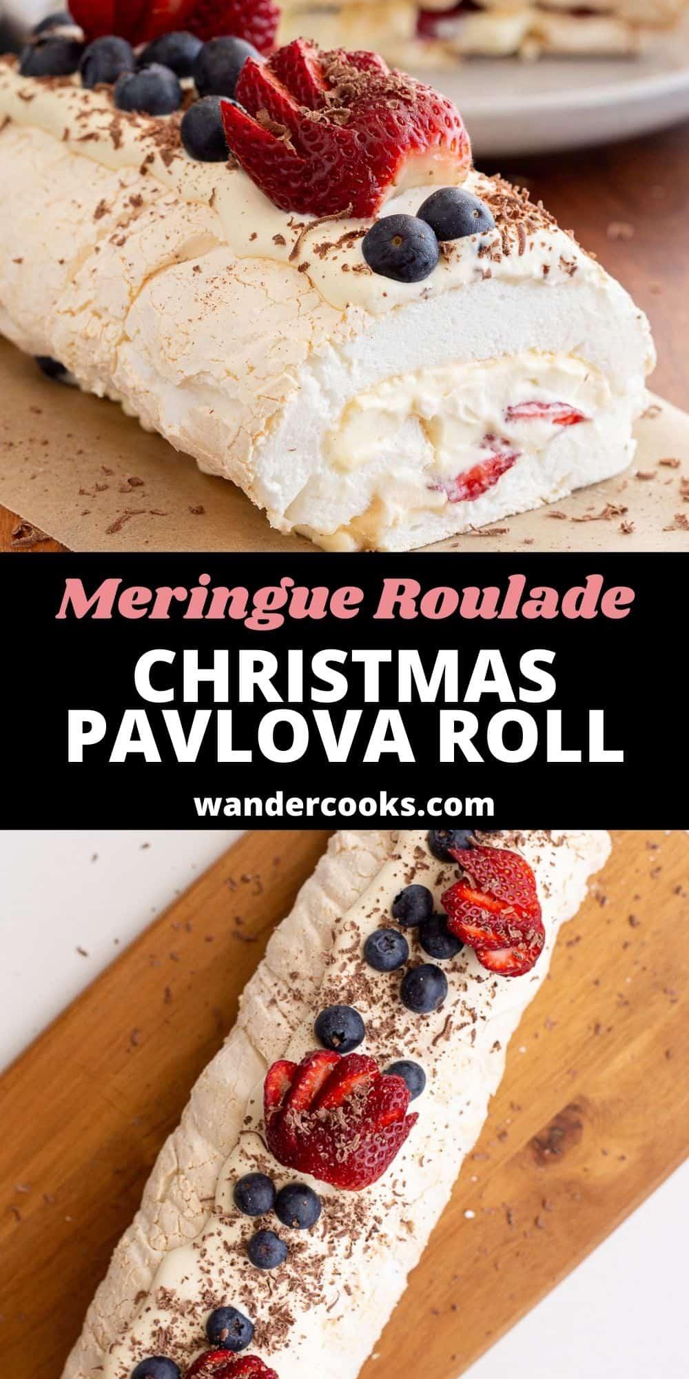 The BEST Pavlova Roll - Easy Meringue Roulade