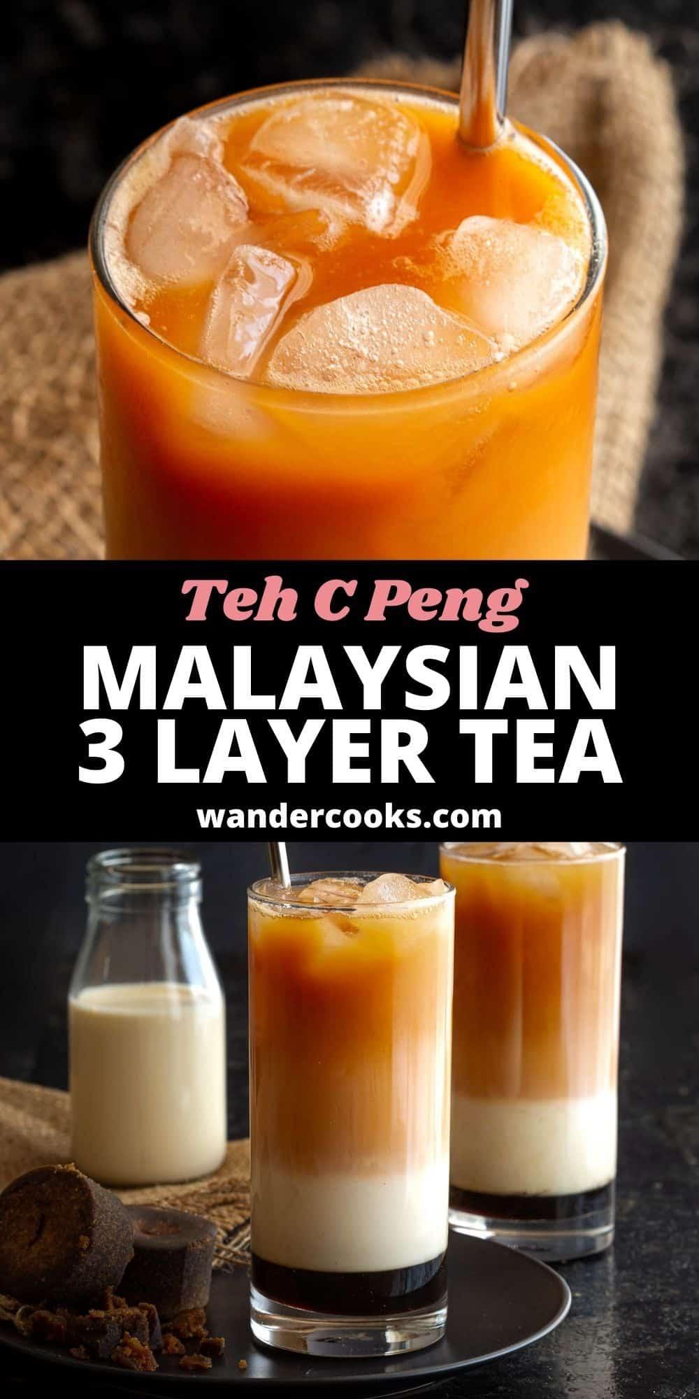 Malaysian 3 Layer Tea - Teh C Peng Special